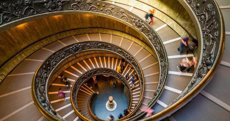 Wendeltreppe (Bramante Treppen) Belvedere Palast Vatican Museums